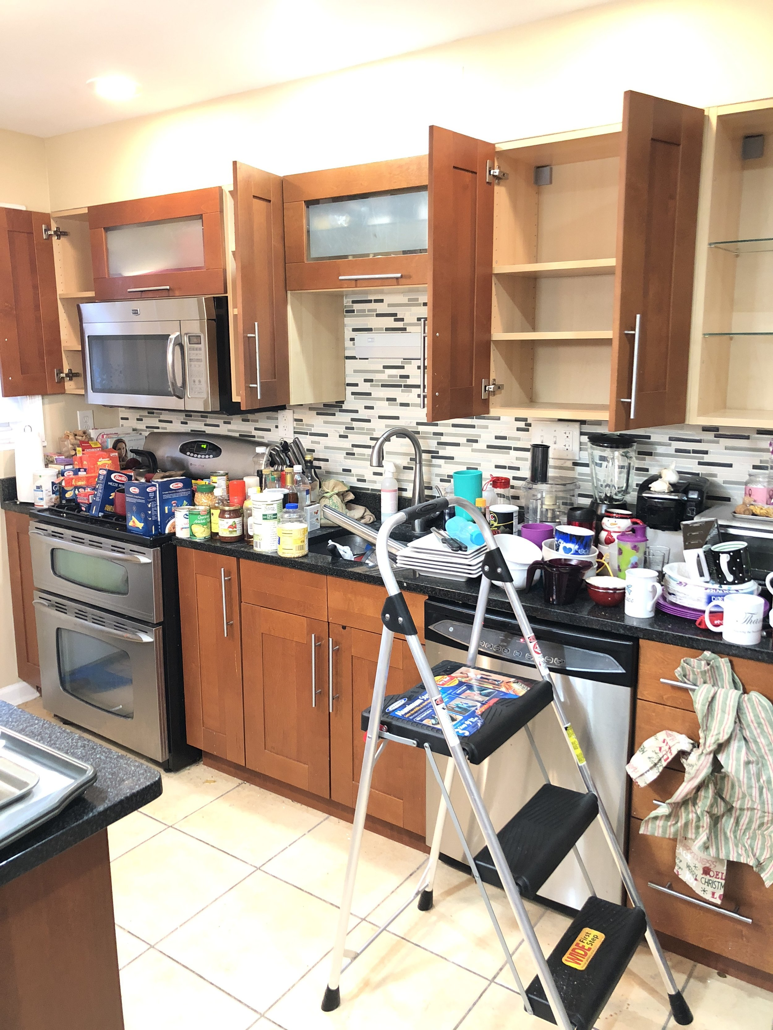 The kitchen purge.