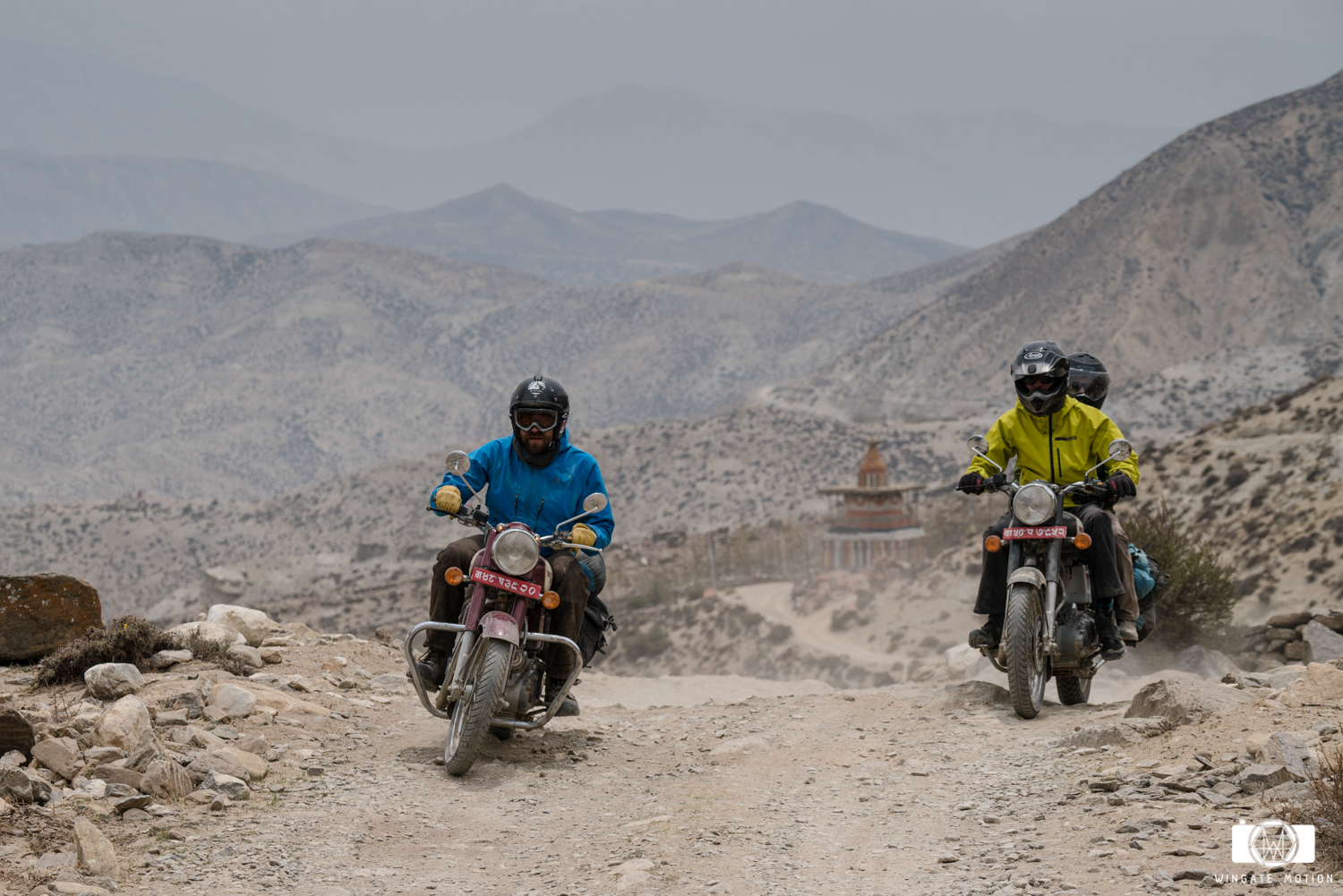 The roads to Mustang were incredibly challenging on these 1950's era Royal Enfield motorcycles. With no real suspension and no planned itinerary, we set our sights on the Tibetan border with high hopes that our bikes would make it all the way. We would face disappointment and redemption along the way. Photo: Cody Tuttle