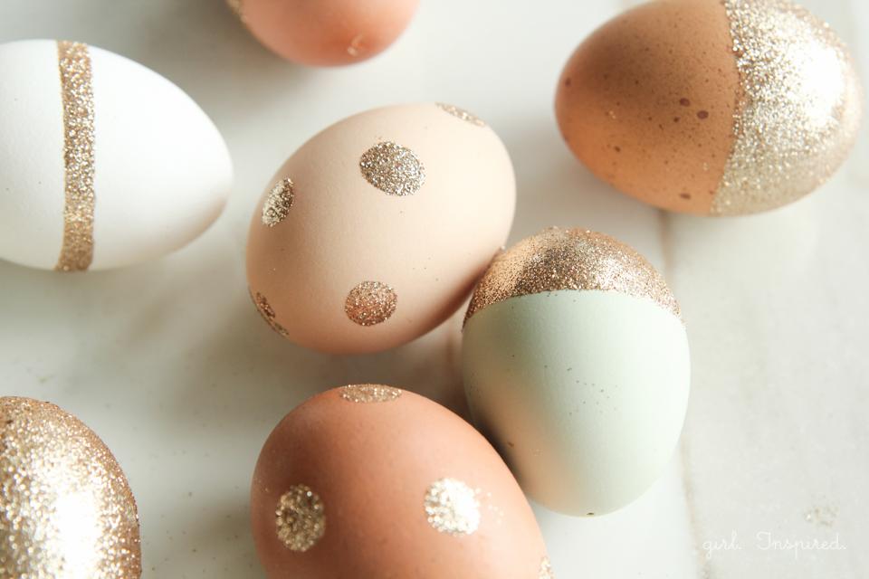 easter 2017 glitter egg decorating