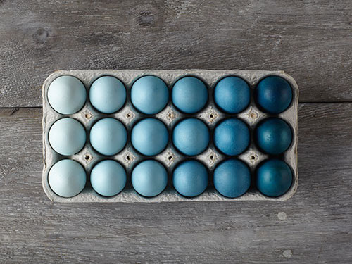 easter eggs ombre decortating