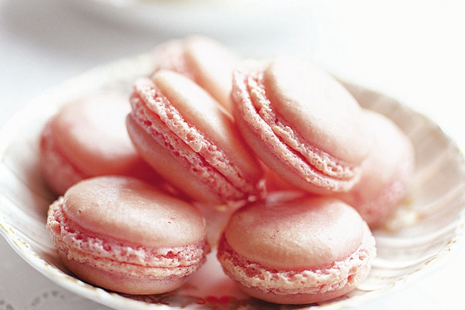 Pink Macaroons Galentine's Day