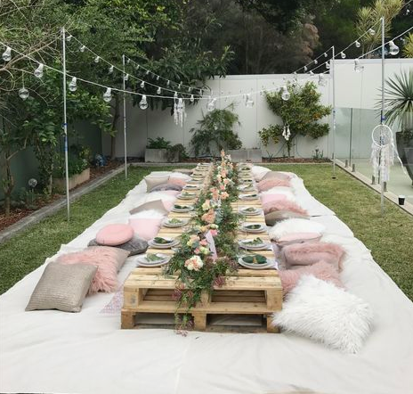 backyard party boho chic