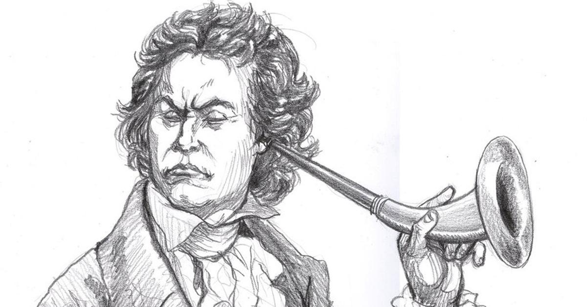 """""""Beethoven Deaf' by Artigas - http://artigas.deviantart.com/art/Beethoven-Deaf-152169442"""