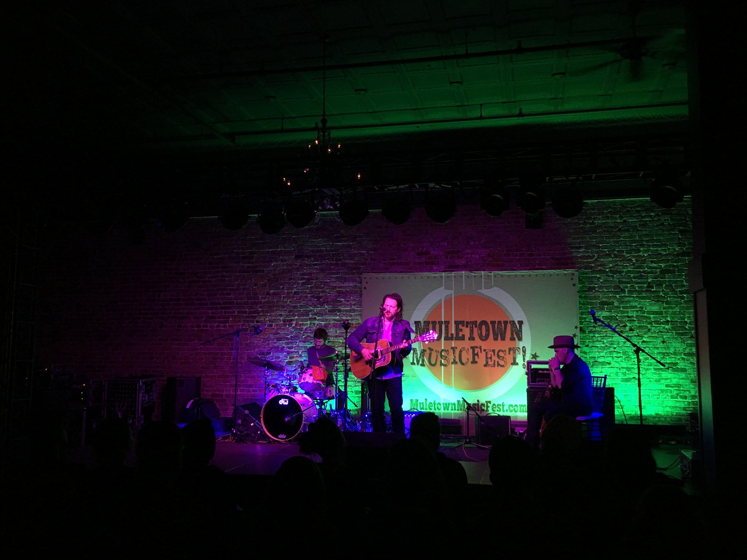 Matthew Perryman Jones performing at Muletown Music Fest in Columbia, TN