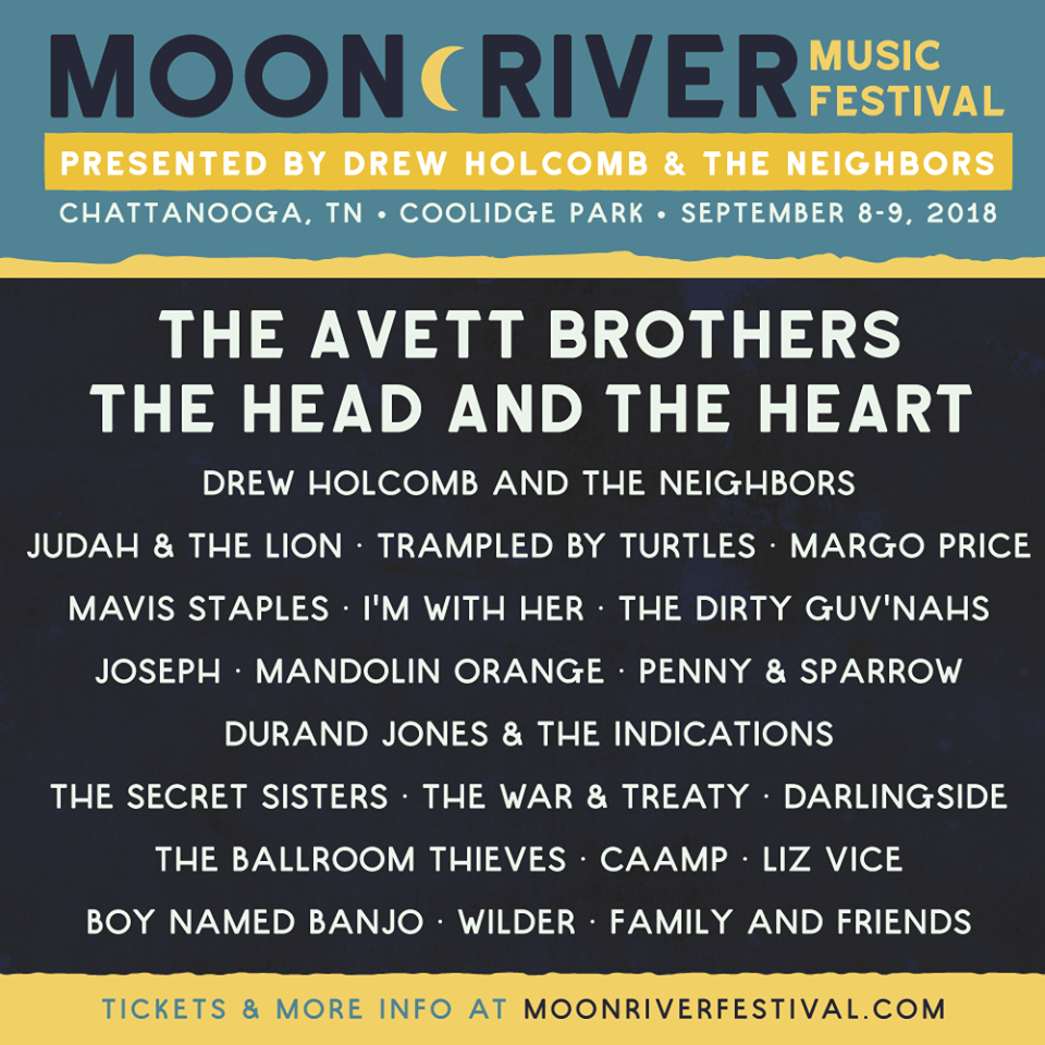 2018 Moon River Music Festival Lineup