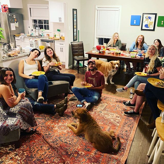 The team that plays together slays together, right? #omgmt #pizzaparty #internsrock