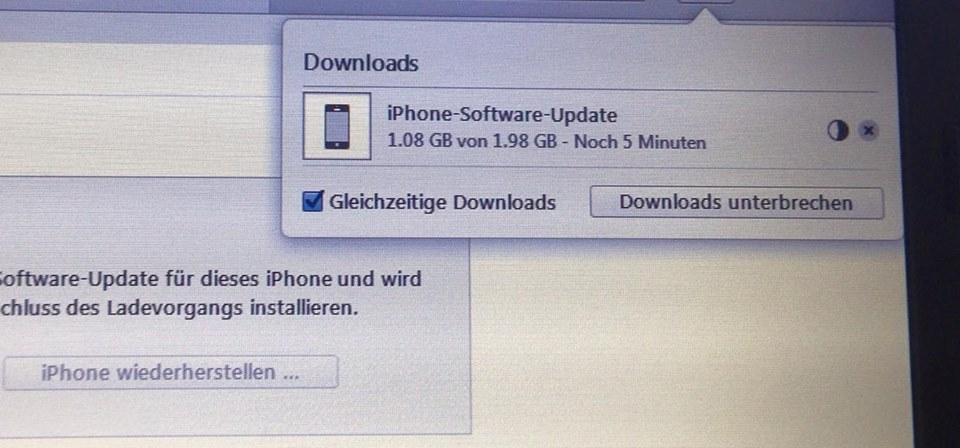iTunes iPhone Aktualisierung