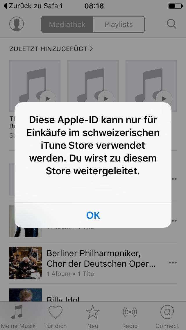 Apple ID Region-Problemlösung
