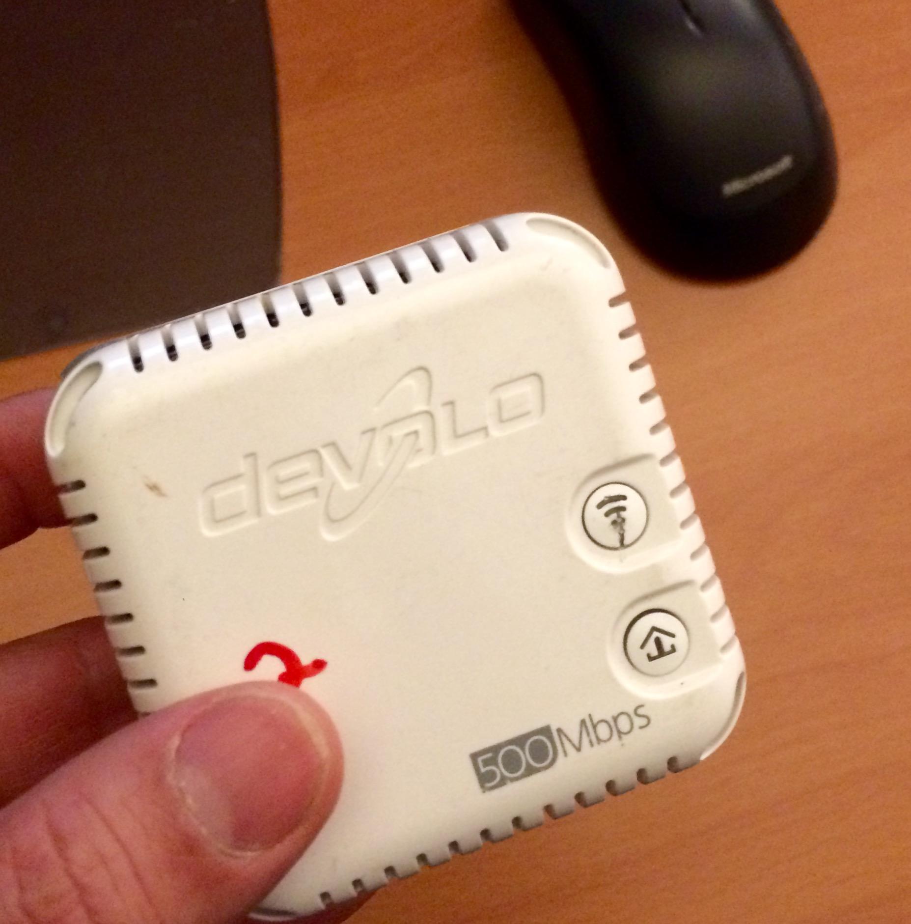 Internet über die Stromleitung Adapter 2