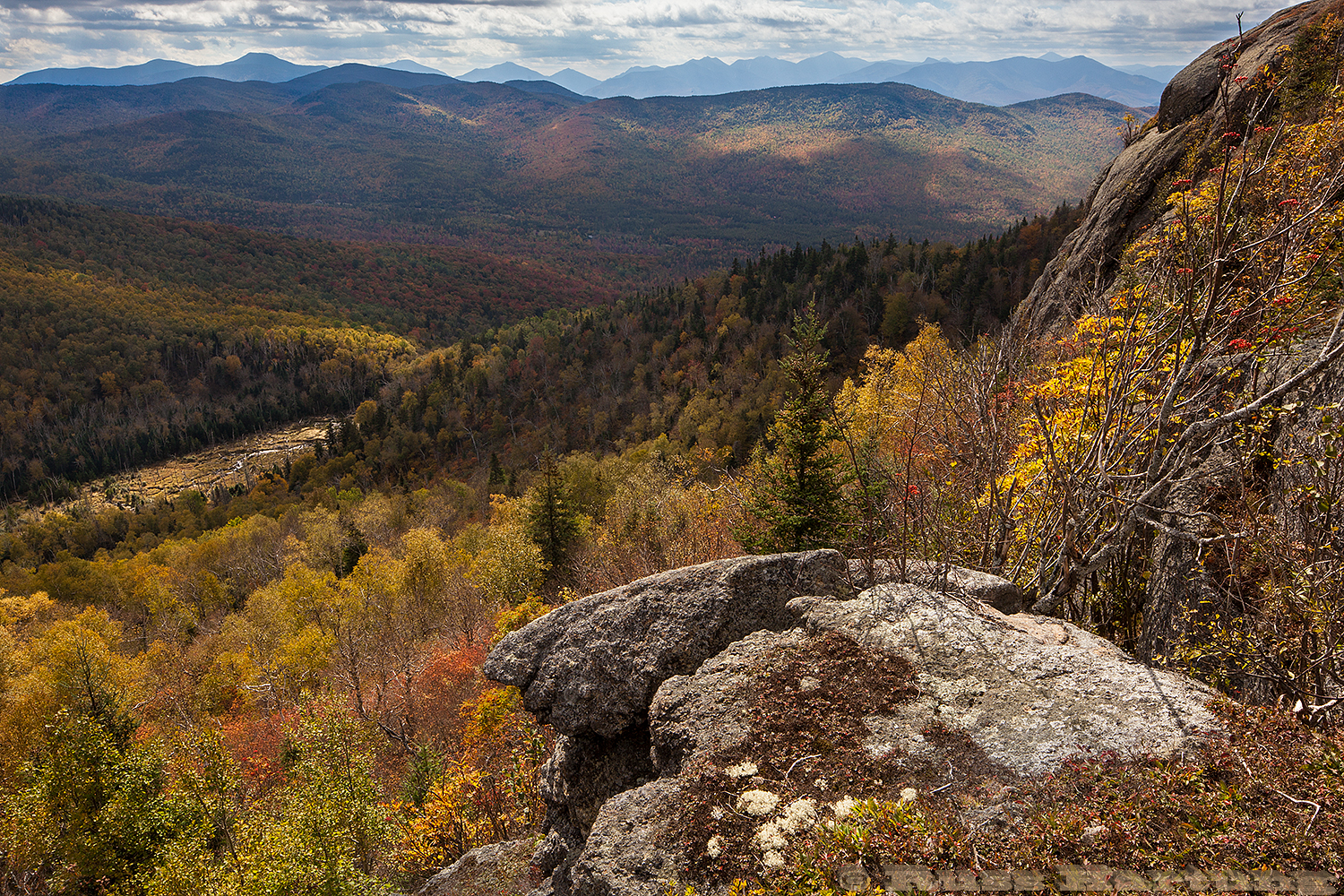 View from the ridge trail on Jay Mountain in the early Autumn.