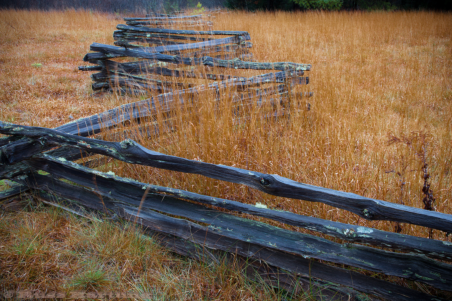 Zig-zag fence in New Hampshire.