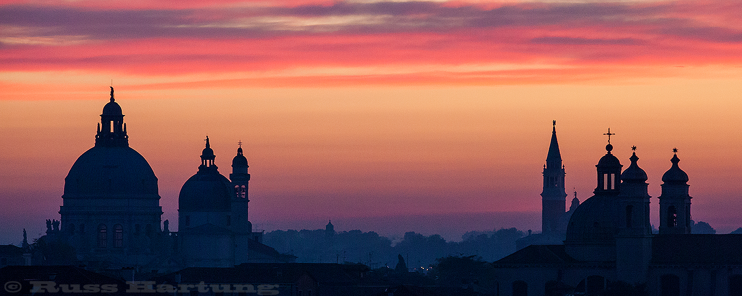 Skyline at sunrise. Venice, Italy