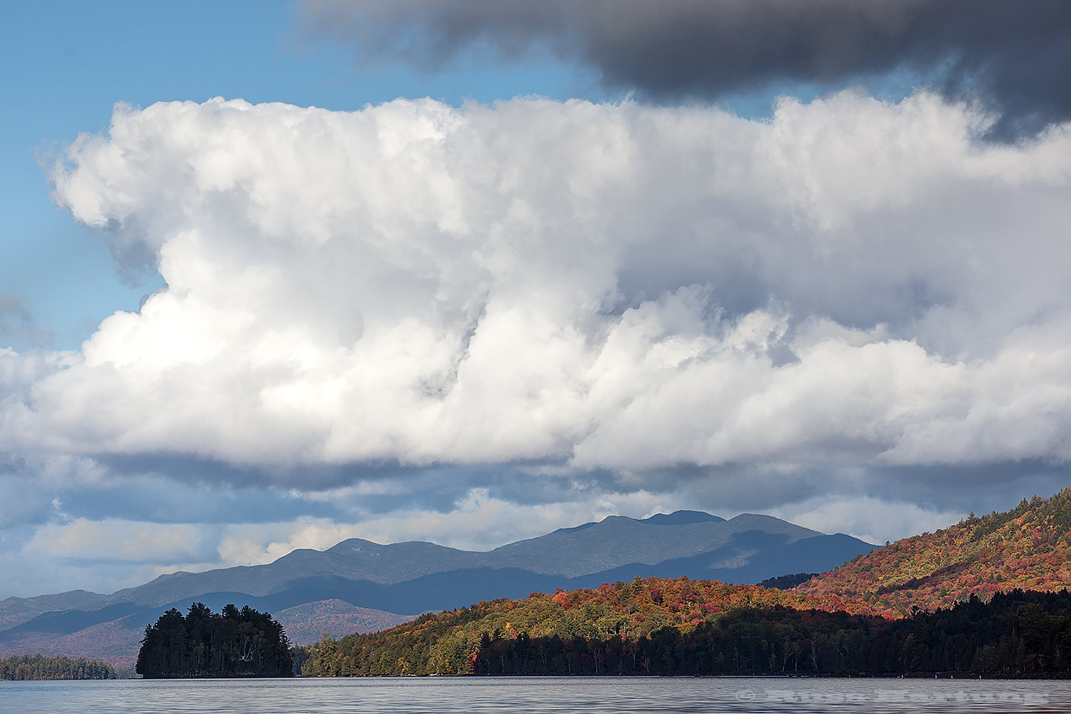 View from my kayak on Long Lake in early October.