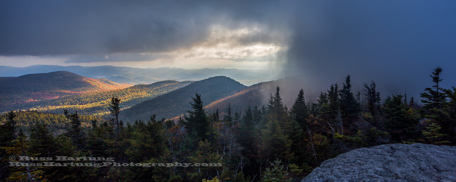 After climbing out of my tent into a thick fog, that lasted for hours, the sun finally started to break through in patches.
