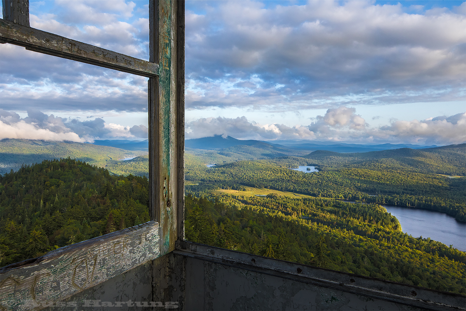 """View From Goodnow Mountain Fire Tower"" - Published in ADK Mtn Club calendar 2019"