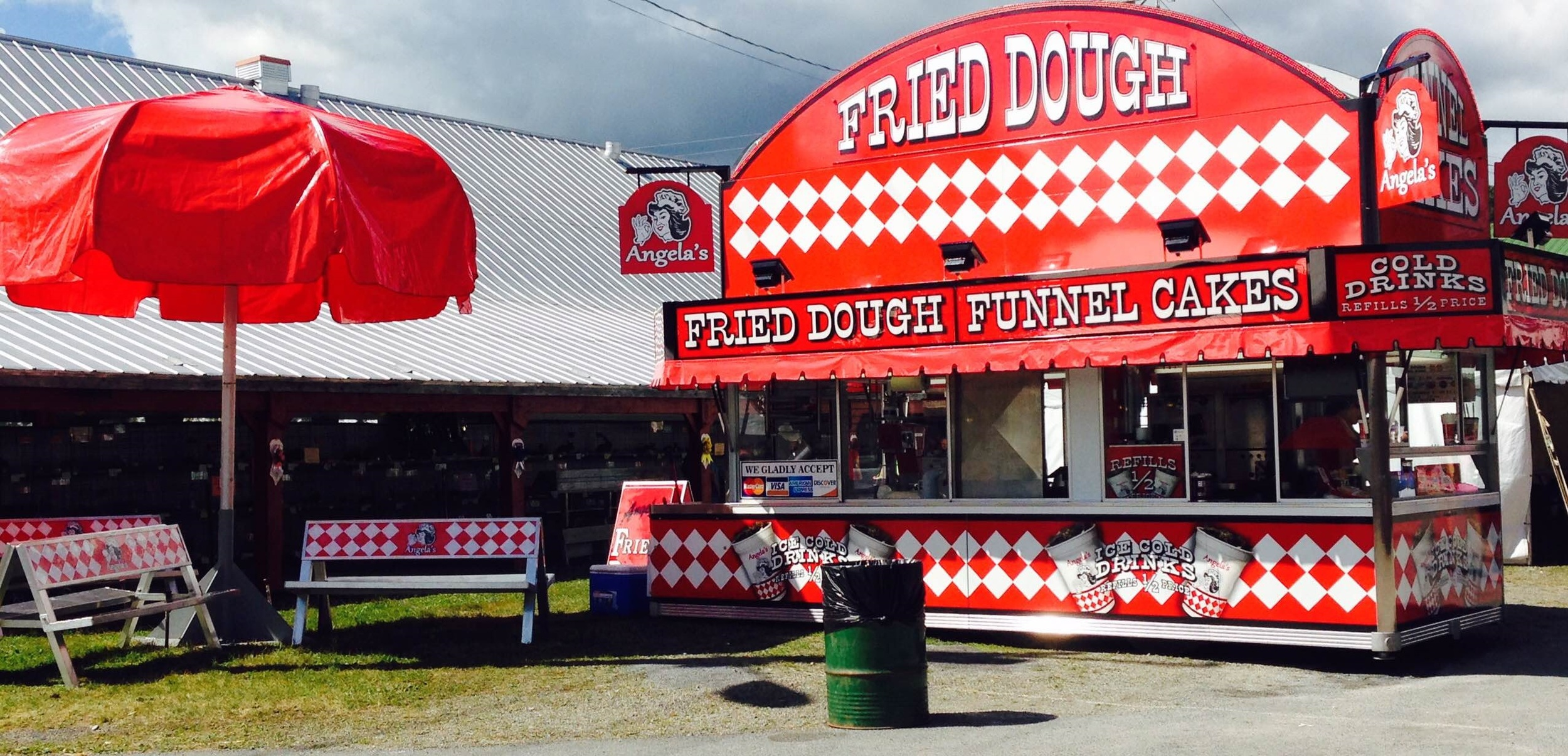 Angela's Fried Dough located by Gate 1 - The Altamont Fair 2015 - Altamont, NY