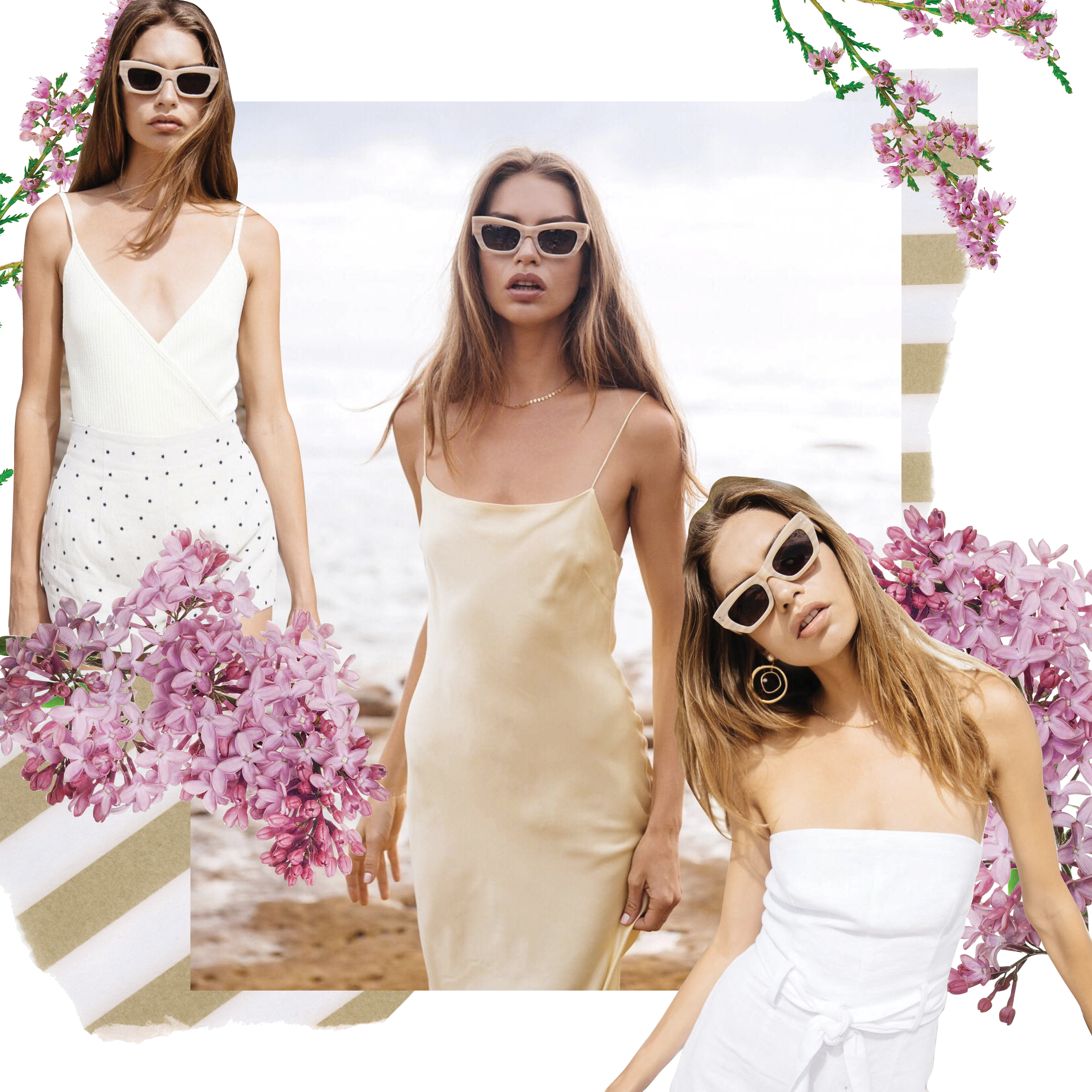 Digital Collage of Avril Rae for Bec and Bridge Fashion