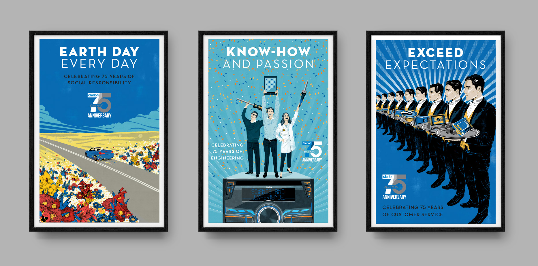 Clarion Print Collateral Posters