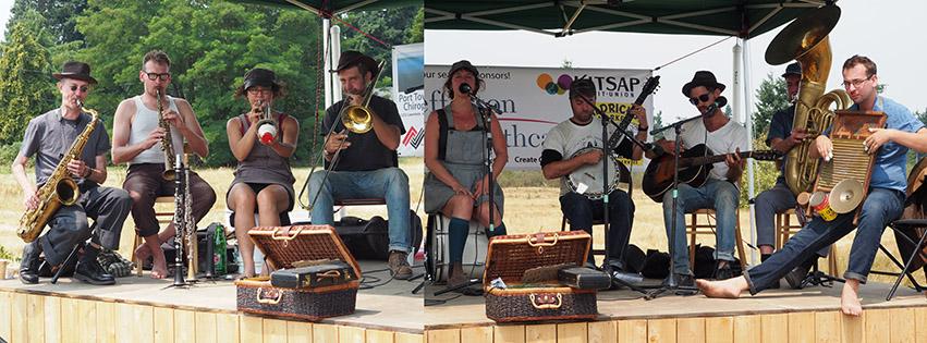 Tuba Skinny at the Chimacum Farmer's Market. Photo by Katy McCoy.