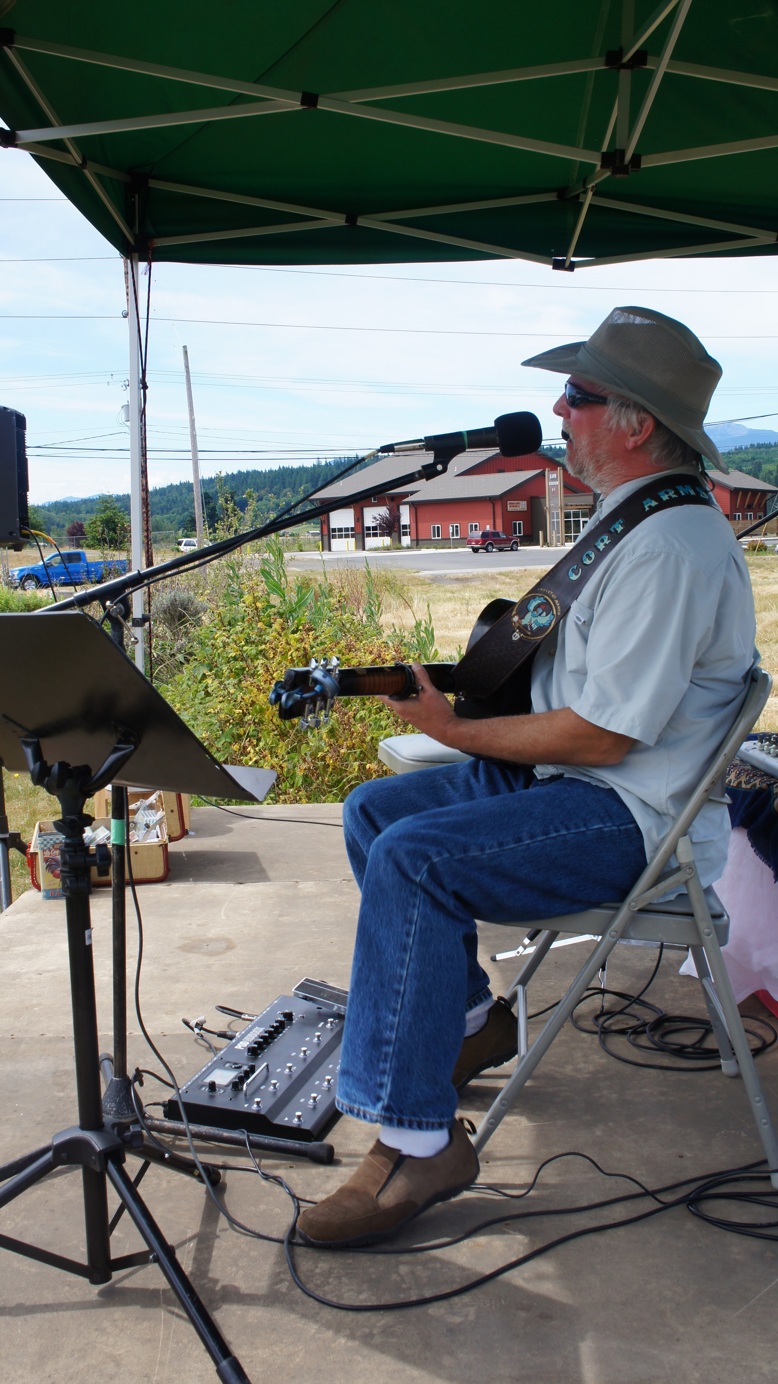 Cort Armstrong at the Chimacum Corner Market.