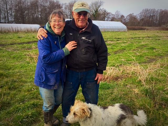 Patty and Nash at Nash's Farm, Sequim, WA.