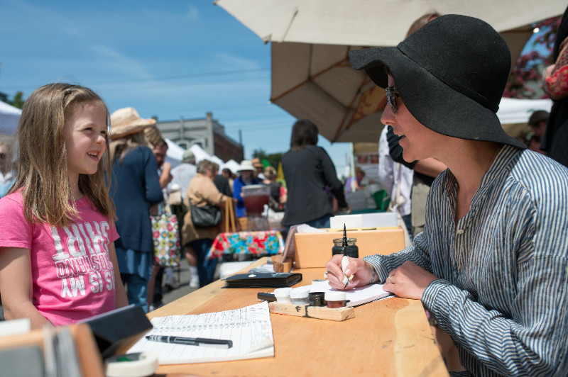 Photo by David Conklin, Artisan Food Festival. Artist, Lindsey Wayland.