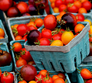Localy grown tomatoes. Try some this Saturday at the Port Townsend Farmers Market and take some home today from the Port Townsend Wednesday Farmers Market. Yum!