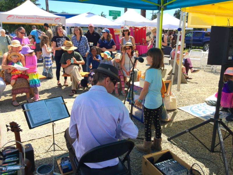 Open mic with Harmonica Pocket at the Chimacum Farmers Market Opening Day.