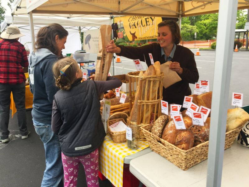 Pane d'Amore at the Port Townsend Wednesday Farmers Market.