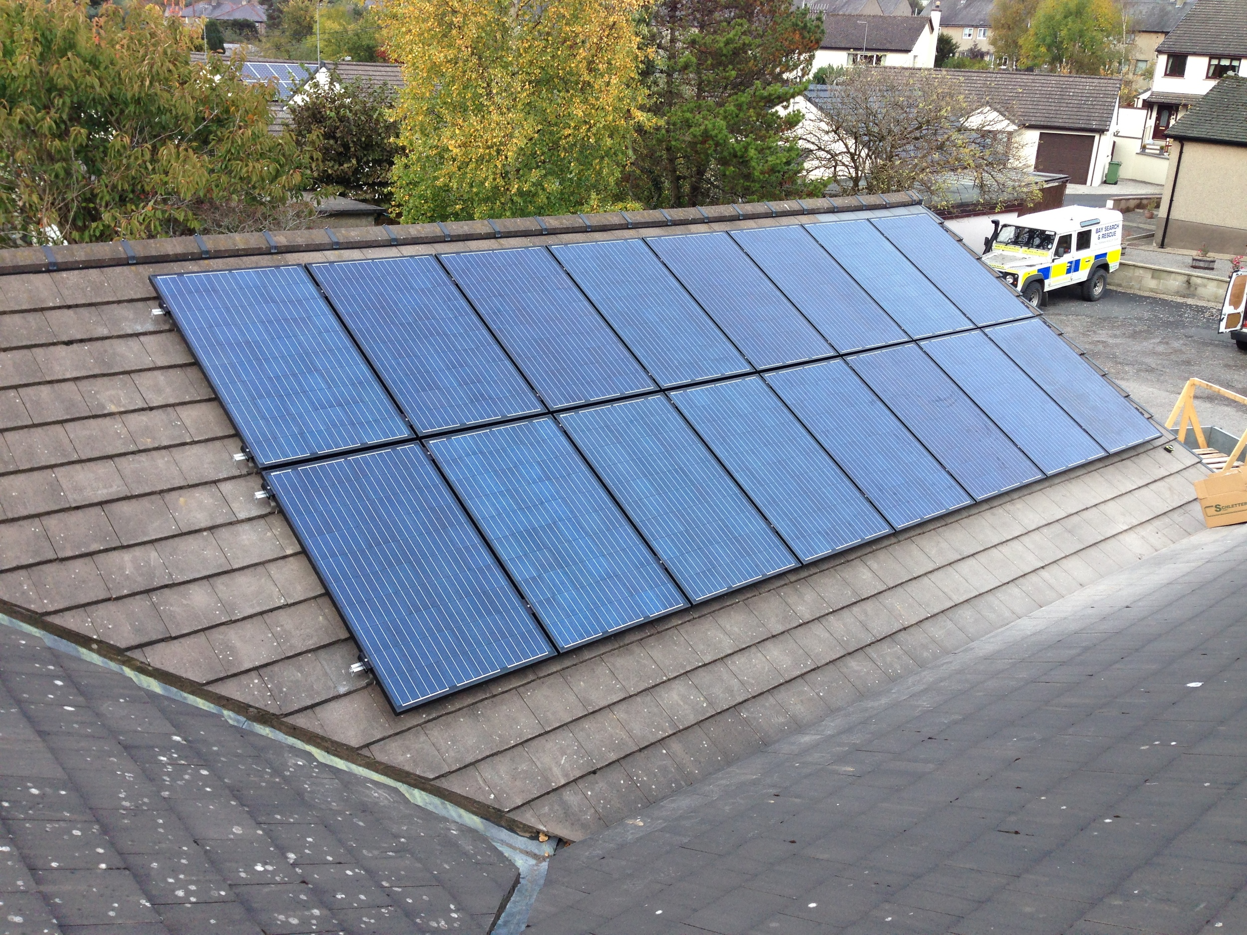 Solar panels are long-lasting and require little upkeep.