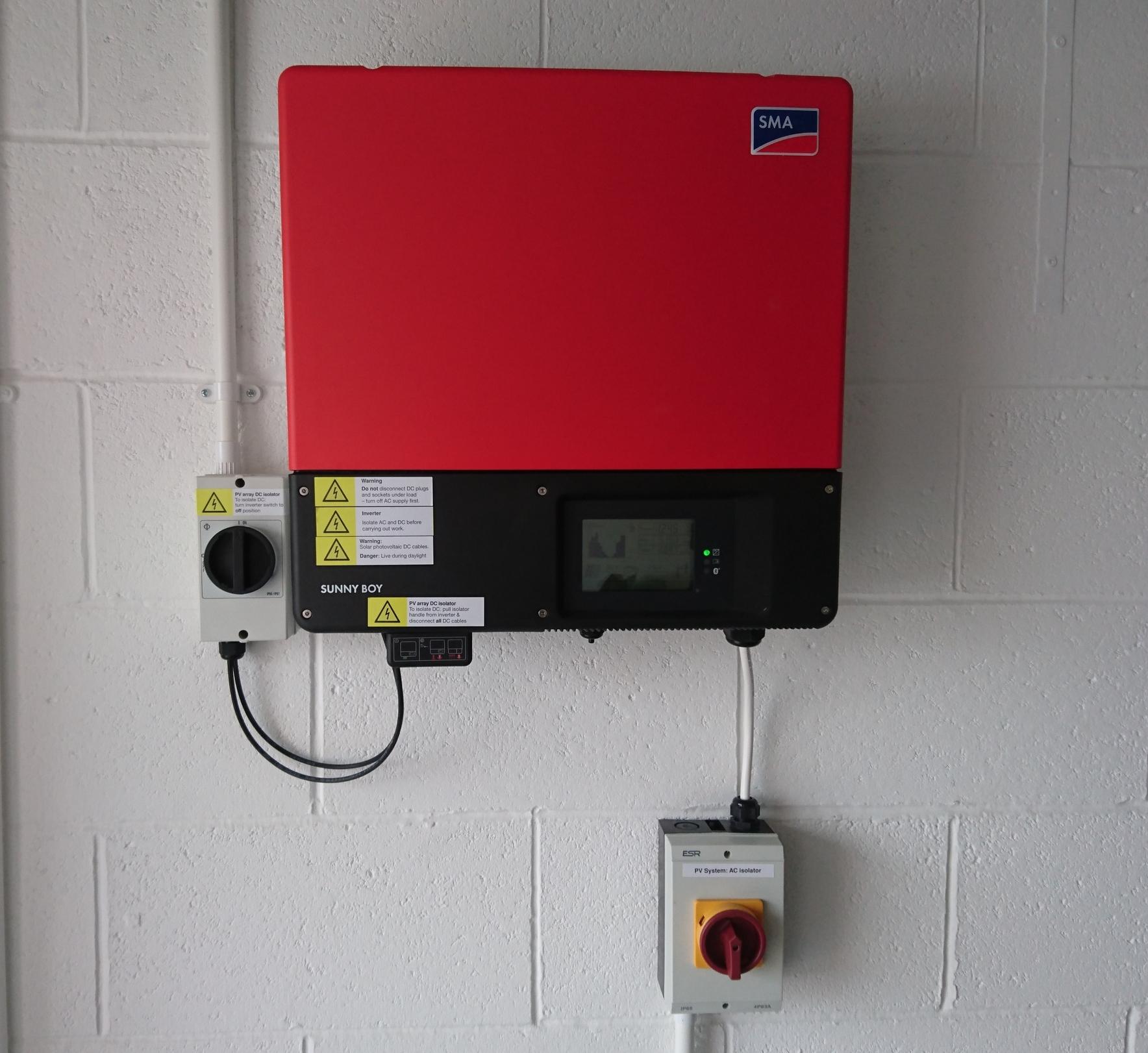 (figure 2) Glowsolar inverter installation