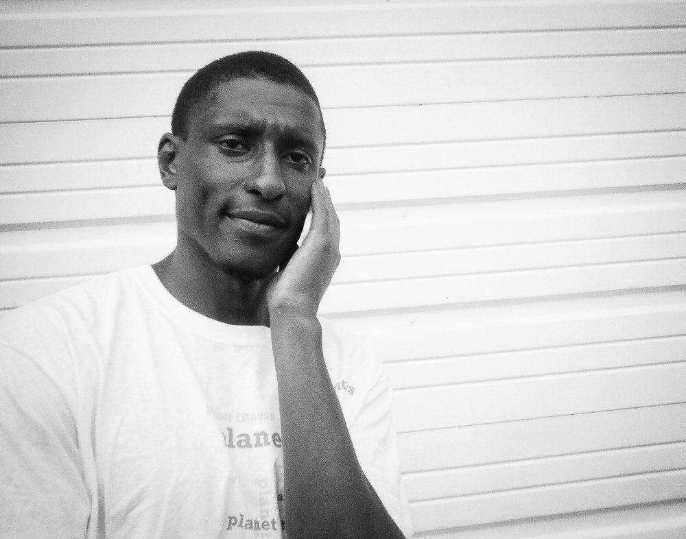 """The Struggle by Allen Johnson   """"My friend was having a problem and was on the phone, I just happened to catch it. We're here at the shelter, but it ain't the end. We're just going through it. We've got a purpose, you just have to go for it and it will come for you."""""""
