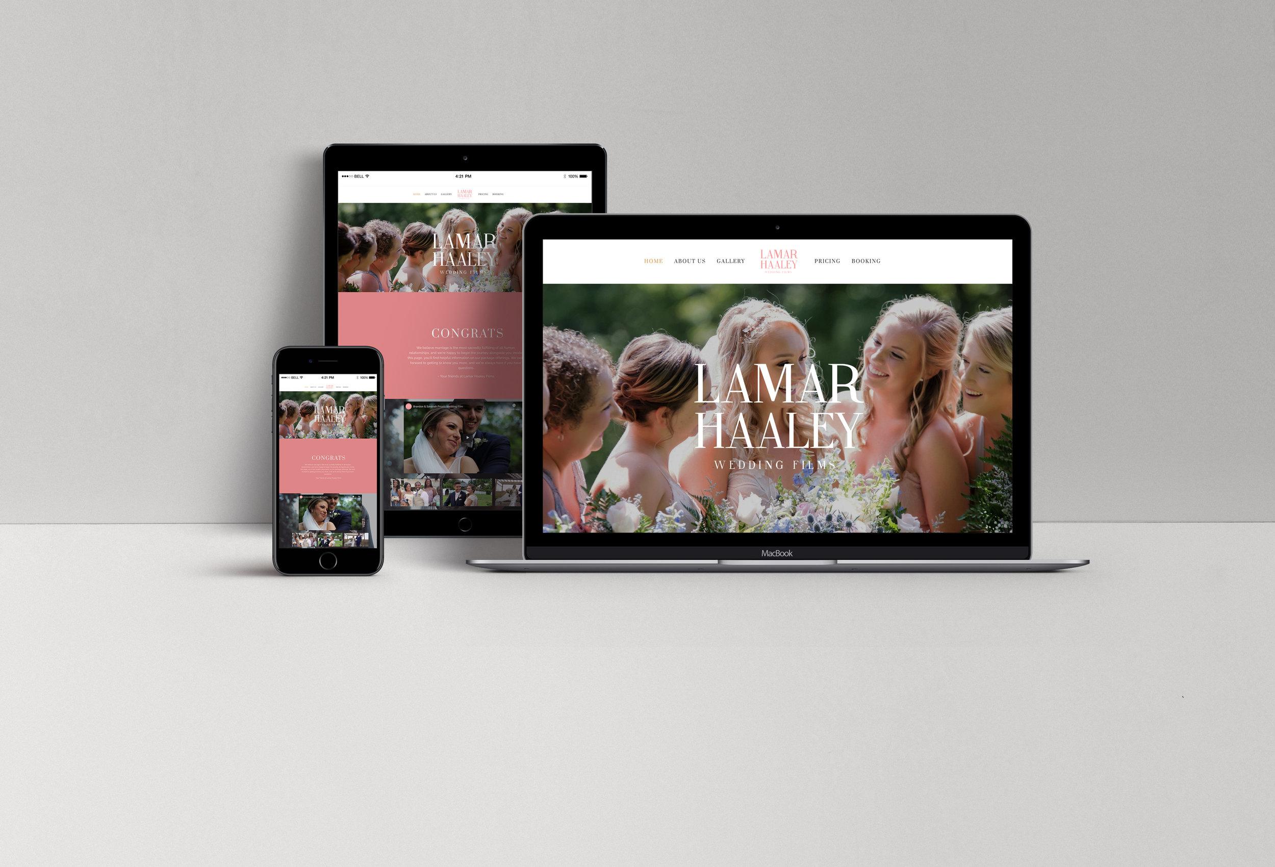Lamar Haaley Wedding Films - Website Design Showcase.jpg