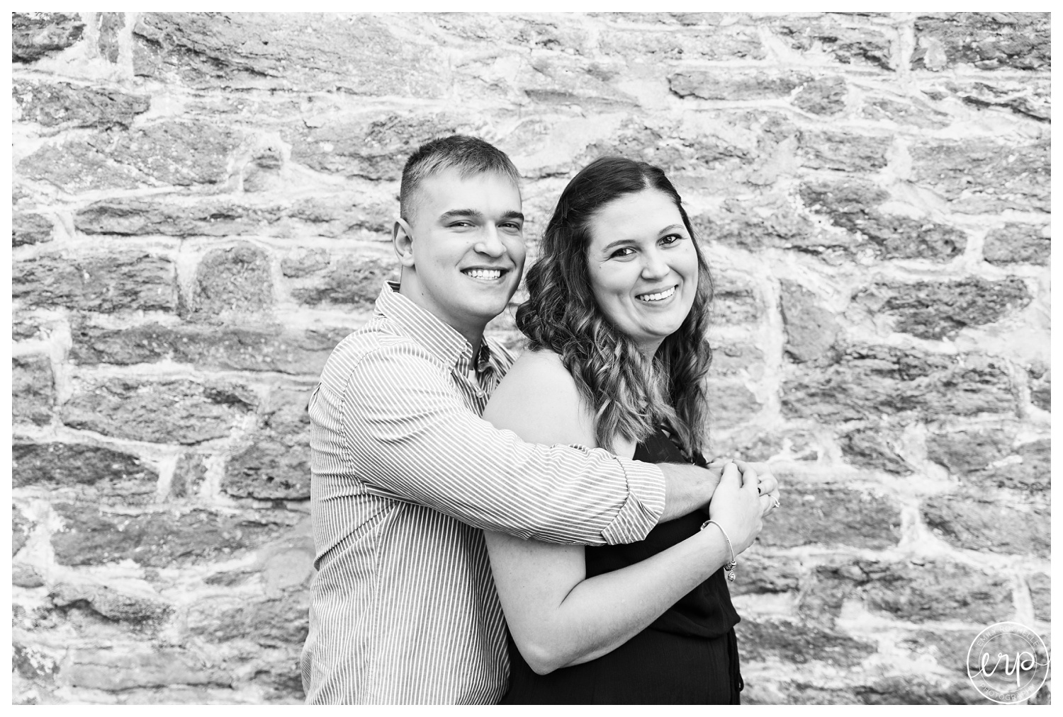 Engaged couple at Rentschler Park in Hamilton, Ohio.