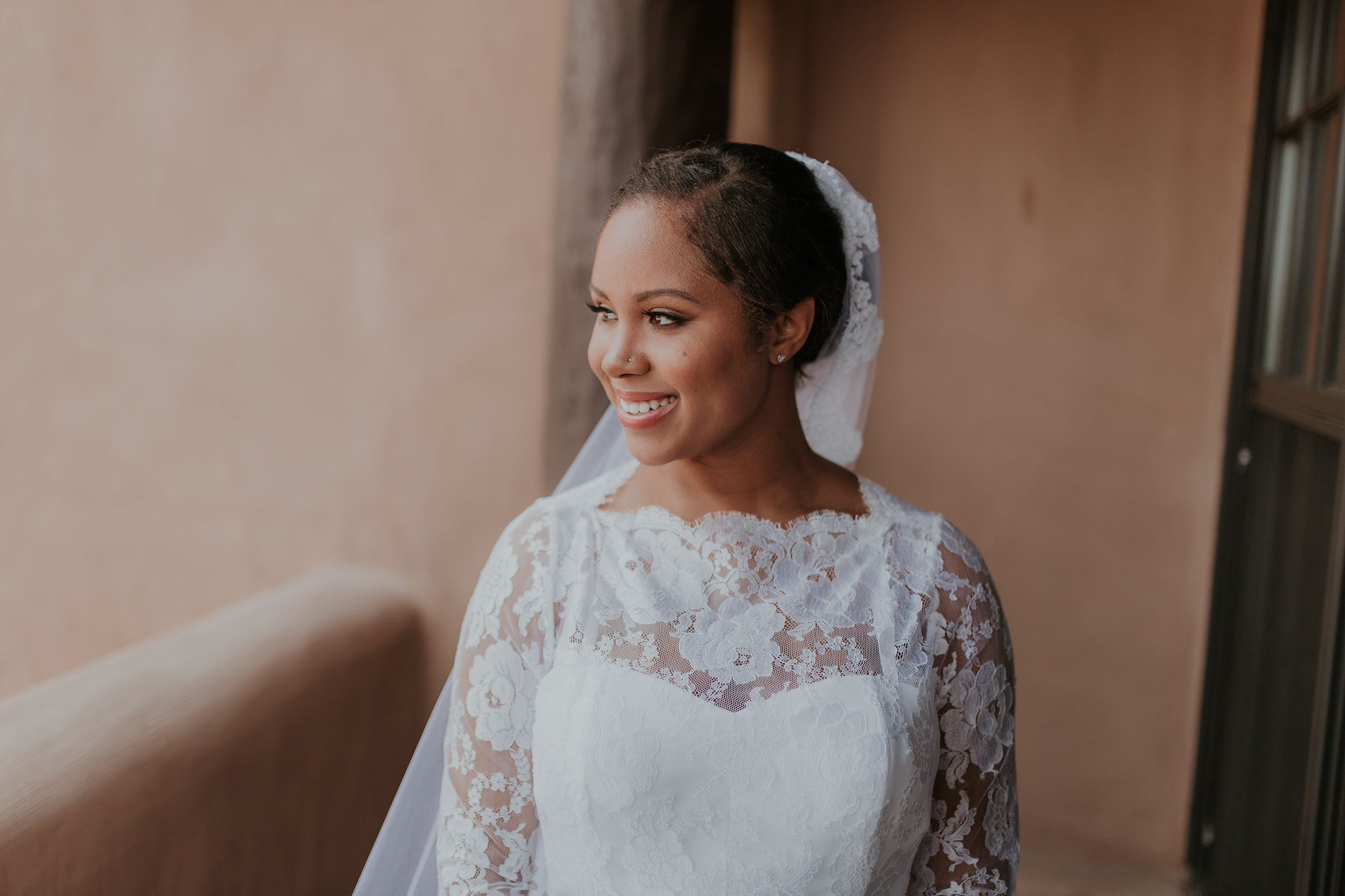 Dark skin bridal makeup in Santa Fe, NM