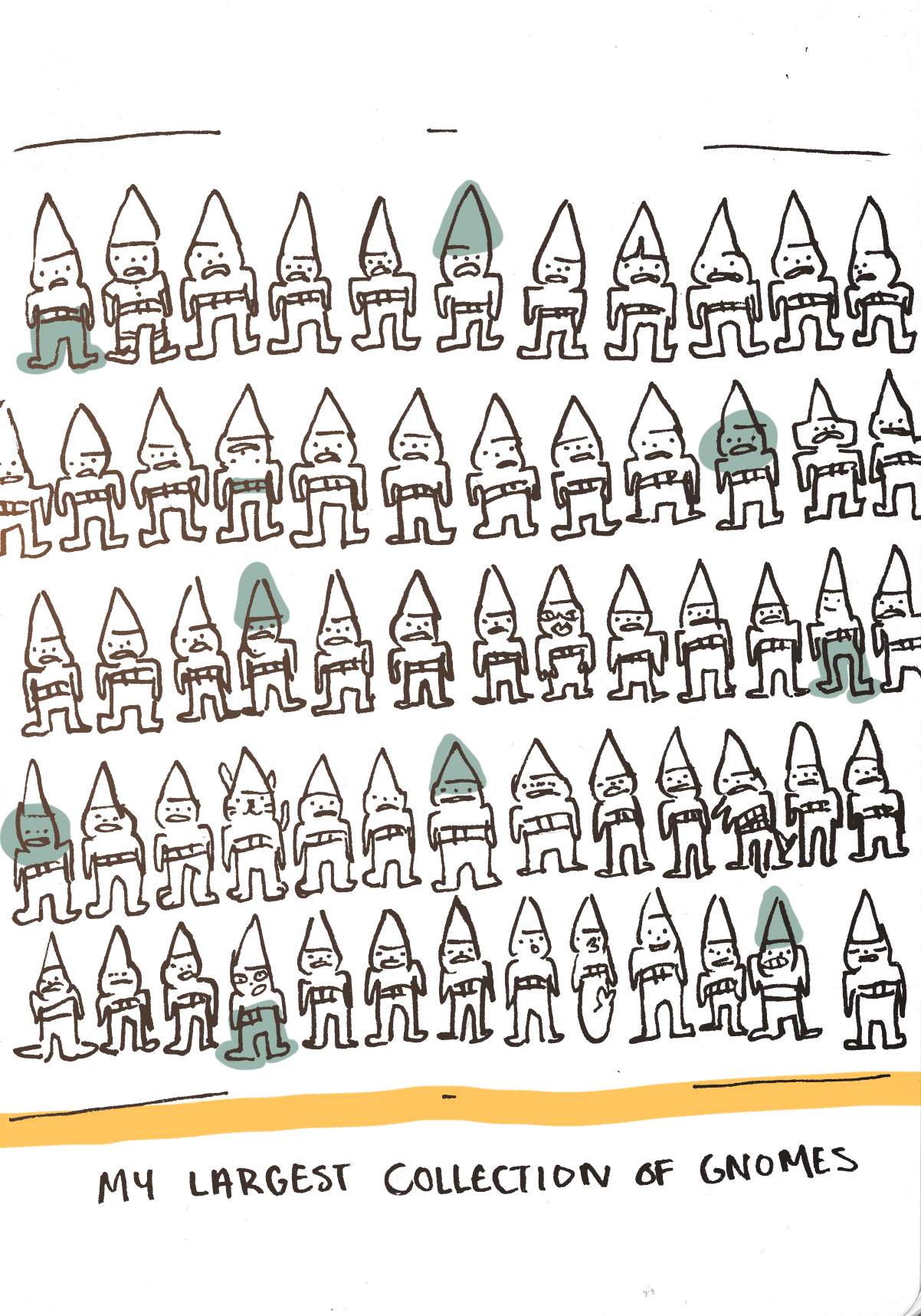 my largest collection of gnomes.jpg