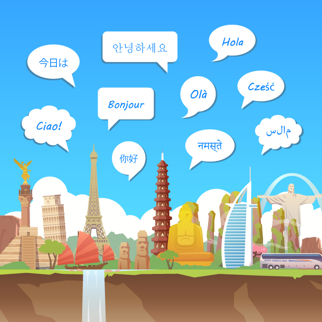 Send texts in multiple languages