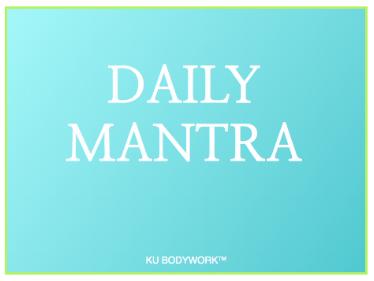 BLOG daily mantra