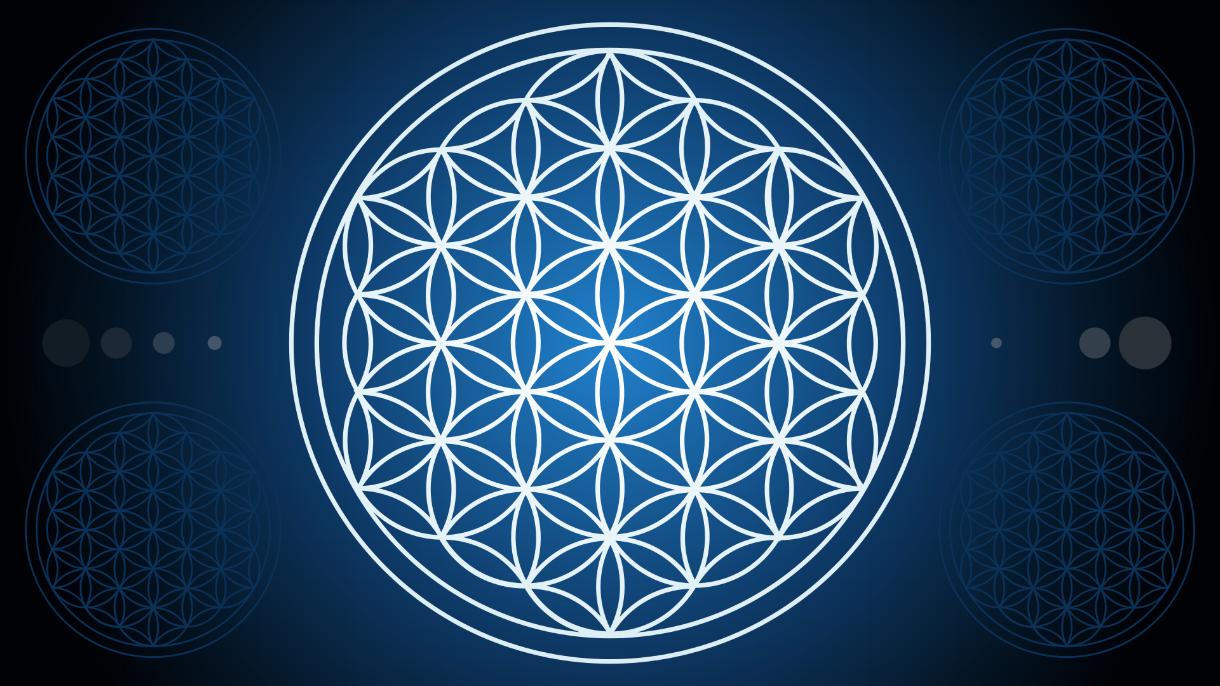 The Flower of Life - a Sacred Geometry symbol for alchemy.