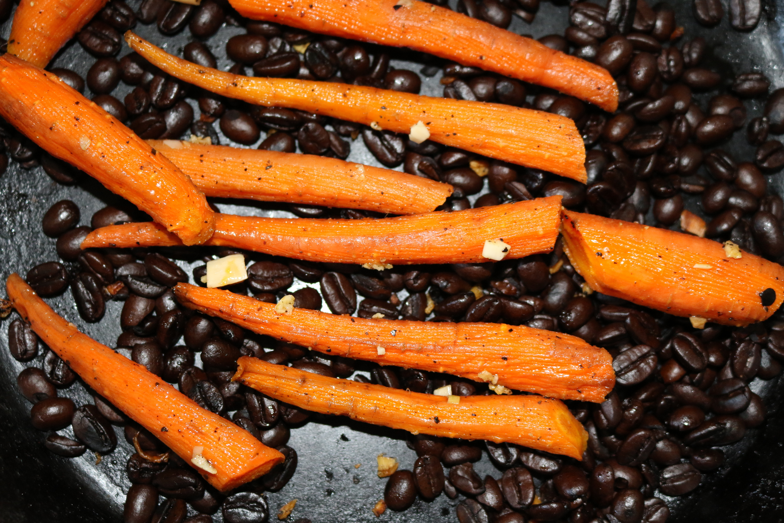 Carrots Roasted In Coffee