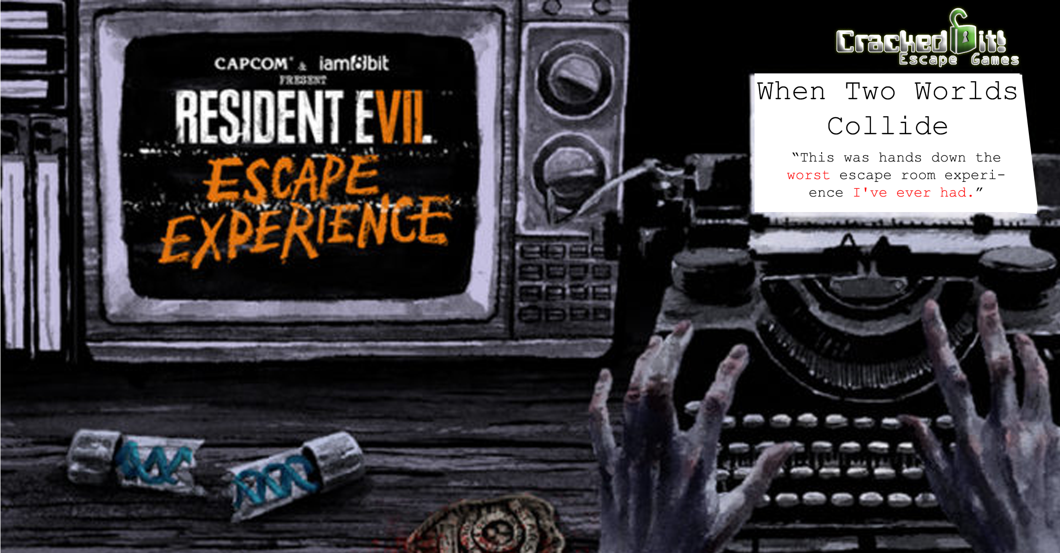 Banner Image: Resident Evil 7 and Escape Rooms when two worlds collide