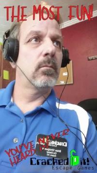Escape Room Owner and blogger Brian Vinciguerra. Owner of Cracked it! Escape Games in Jacksonville, North Carolina