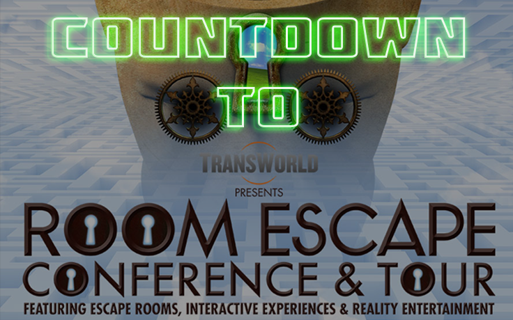 Countdown to Transworld Room Escape Conference 2017 in Niagra Falls, NY May 1-5 2017