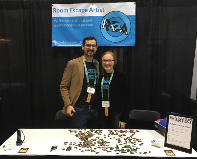 Room Escape reviewers David and Lisa Spira from  roomescapeartist.com