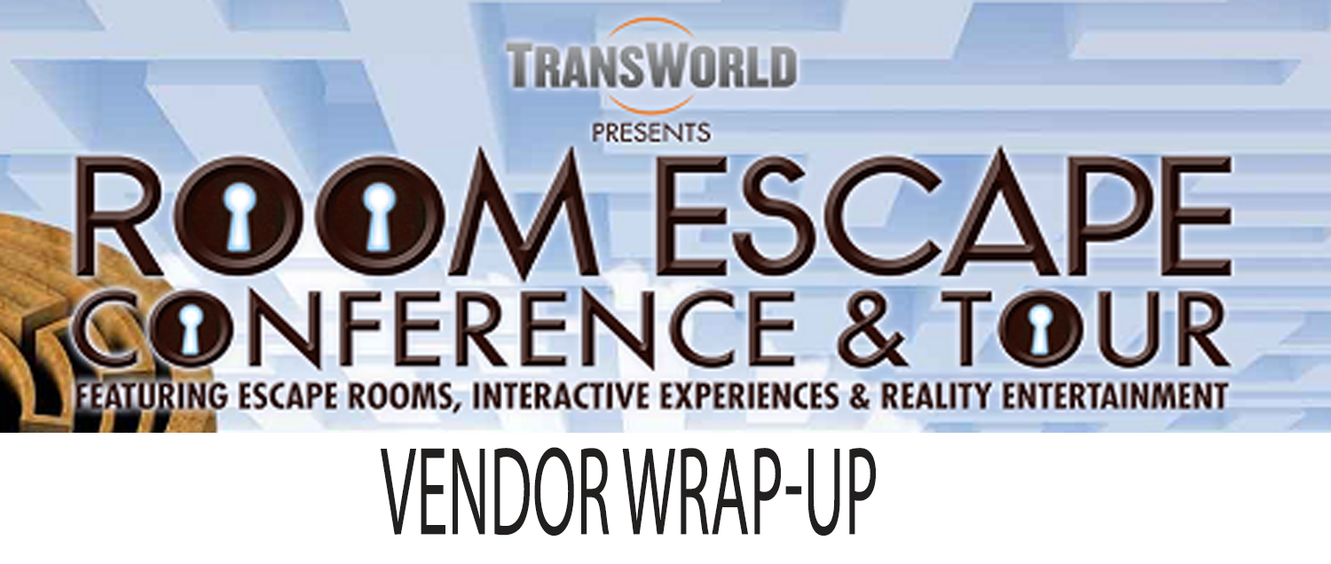 A comprehensive listing of the vendors that attended the 2017 room escape conference presented by Transworld
