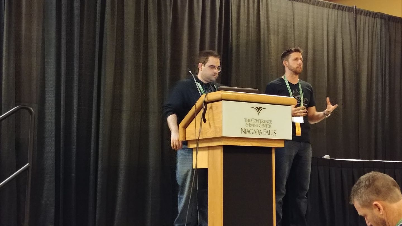 Tone Purczycki and Frank Gigglia give thier guerilla marketing seminar at the 2017 Room Escape Conference, Niagra Falls, NY
