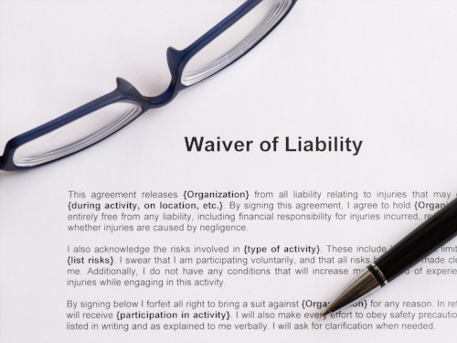Use a waiver to minimize liability in your escape room