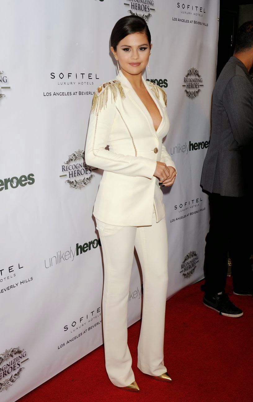 Selena Gomez wearing Versace. Google Images