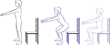 Stand to sit avoiding plonking