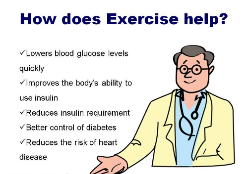 How exercise is beneficial for those with diabetes